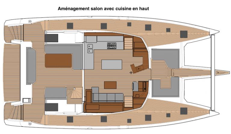 Samana 59 Salon avec cuisine en haut