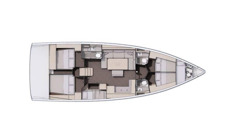 Plan Aménagement 3 - 4 cabines, 3 salles d'eau