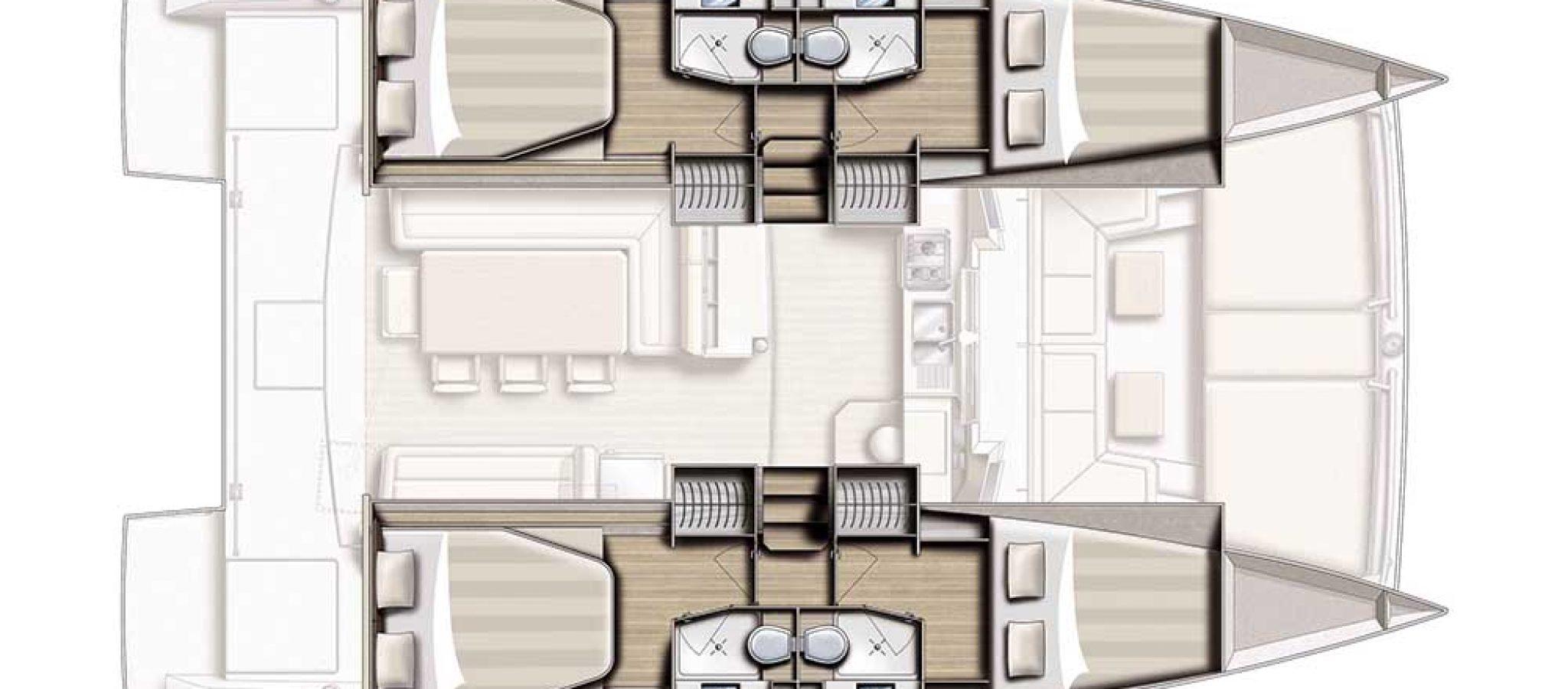 Bali 4.0 plan 4 cabines