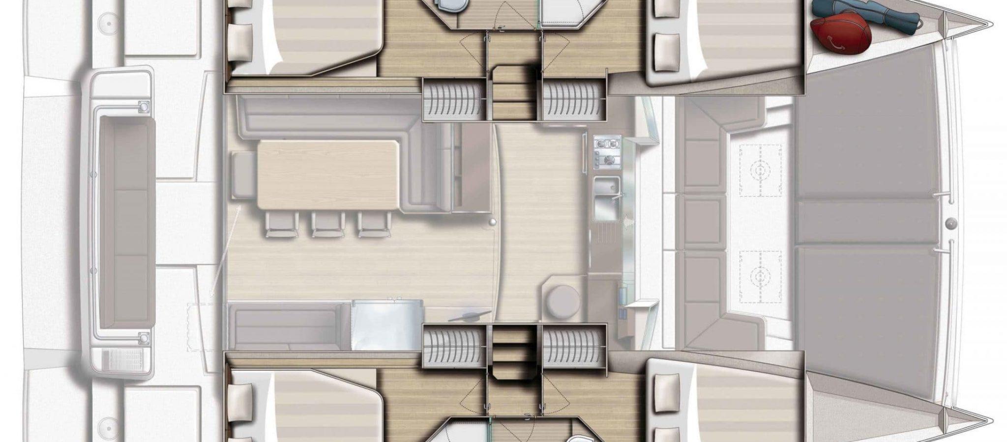 Bali 4.3 Plan cabine