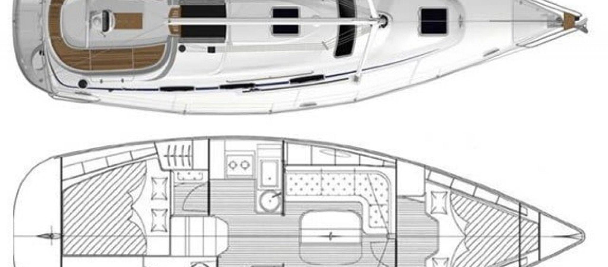 Bavaria 33 cruiser plan 2 cabines