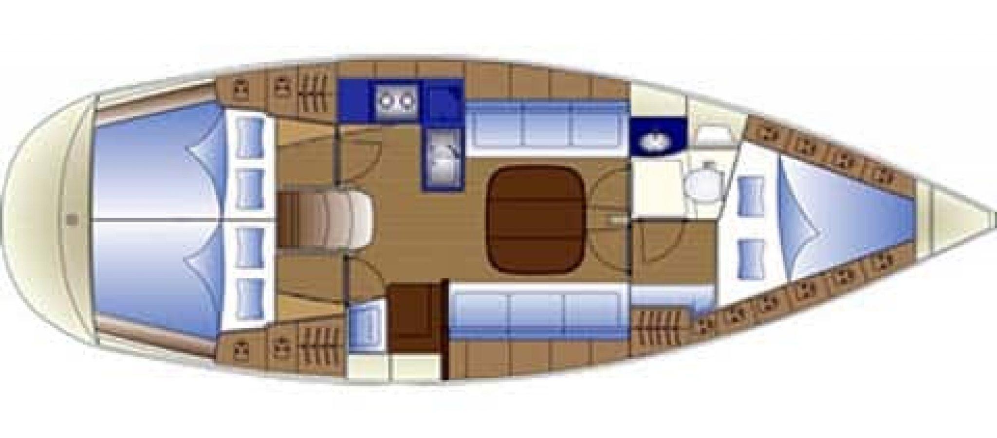 Bavaria 36 plan 3 cabines