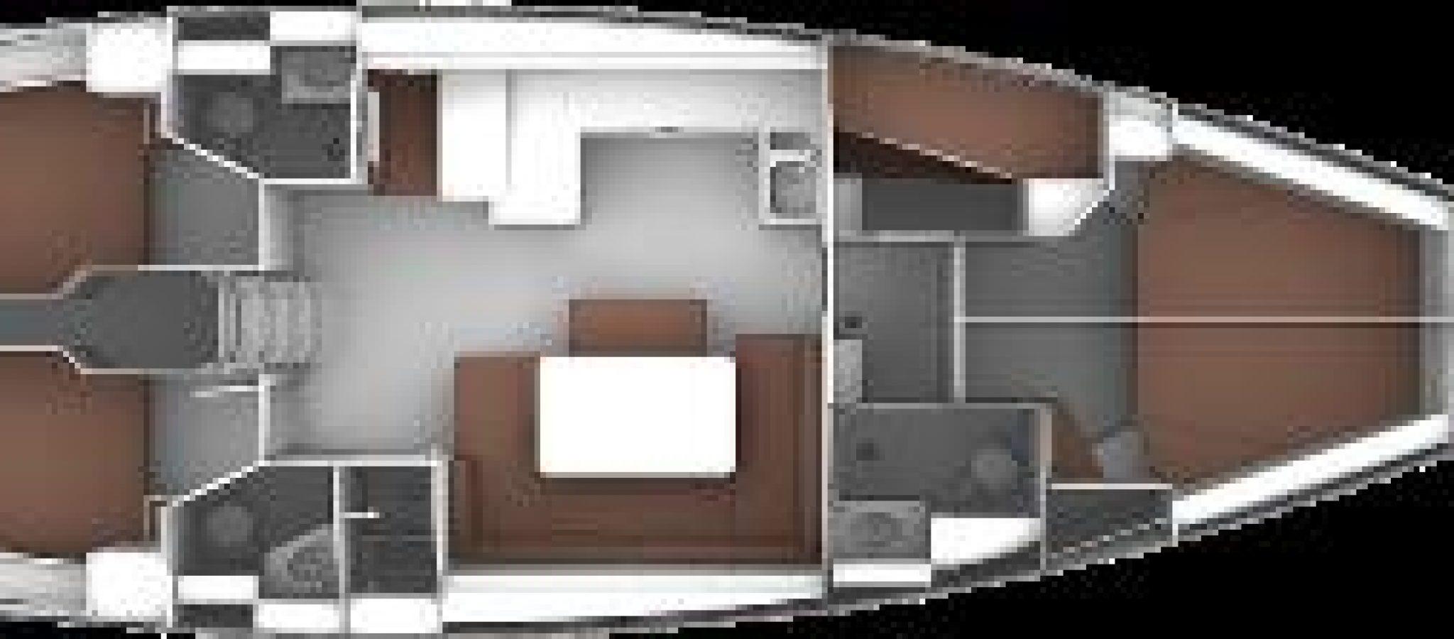 Bavaria 51 cruiser plan 5 cabines
