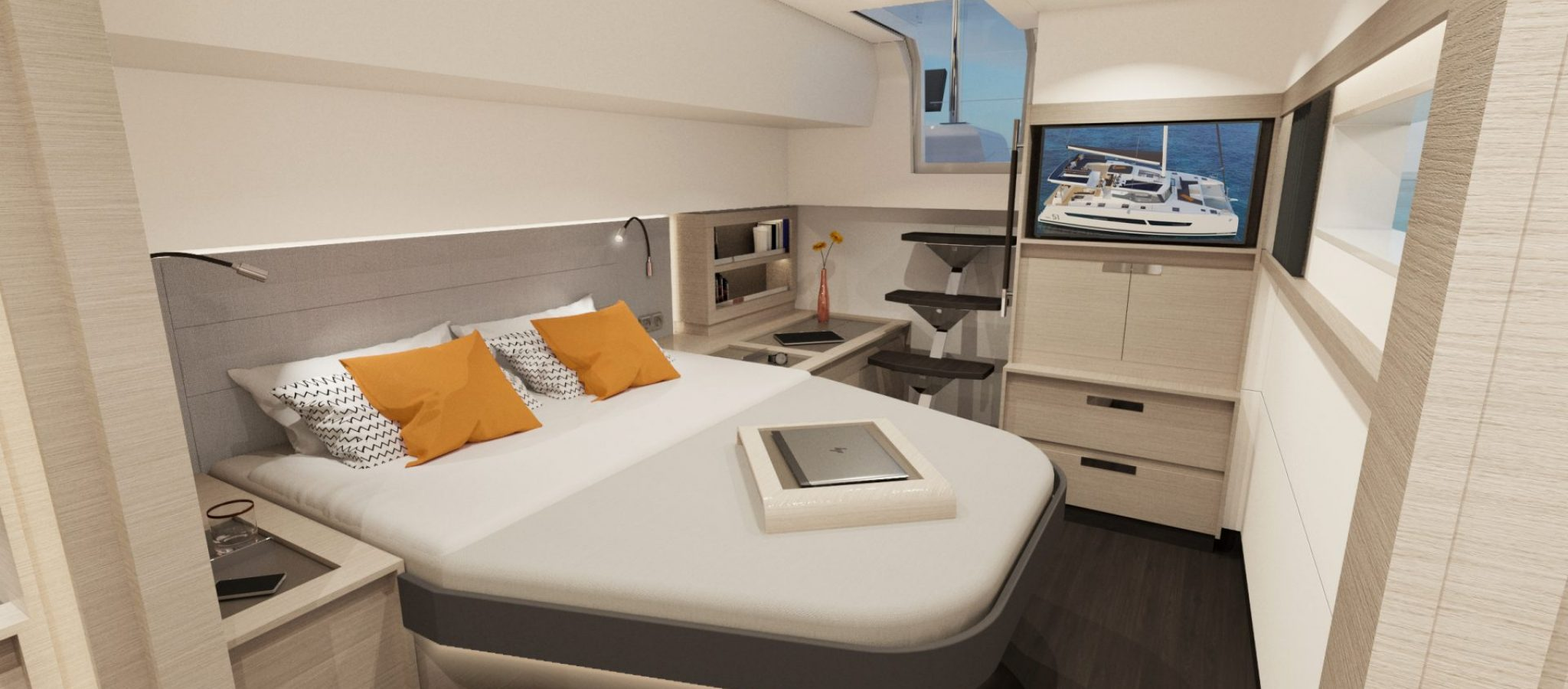 Fountaine-Pajot-New-51-Interiors-owners-suite-02 (1)