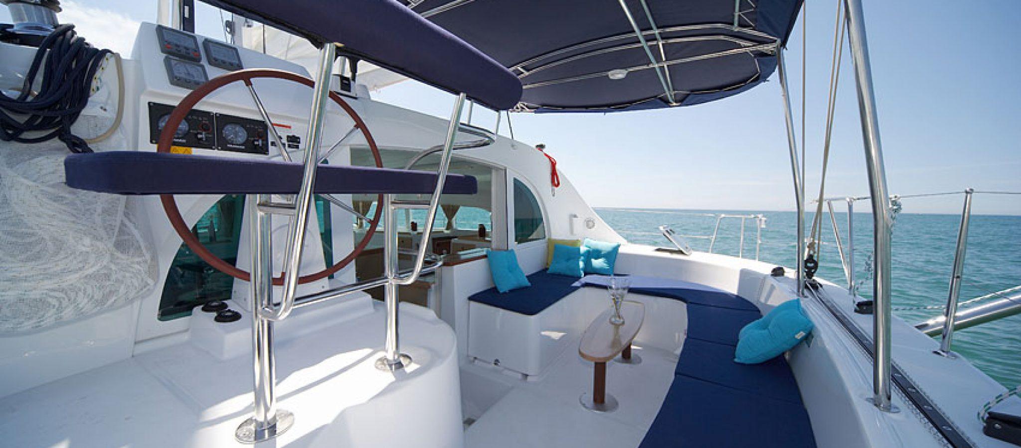 Lagoon 380 cockpit