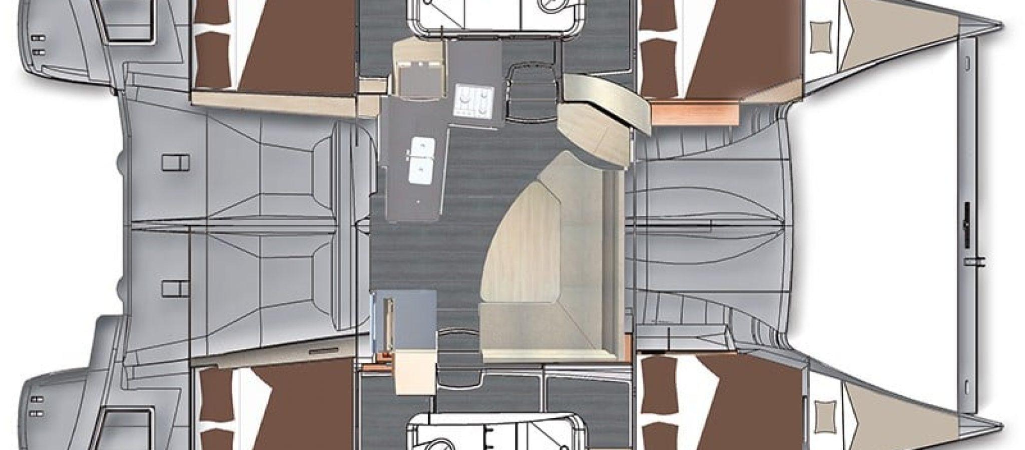 Lipari 41 plan 4 cabines
