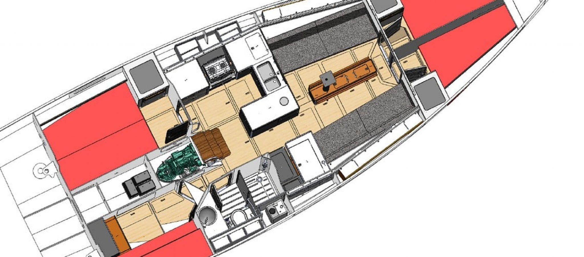 RM 1270 Plan 4 cabines