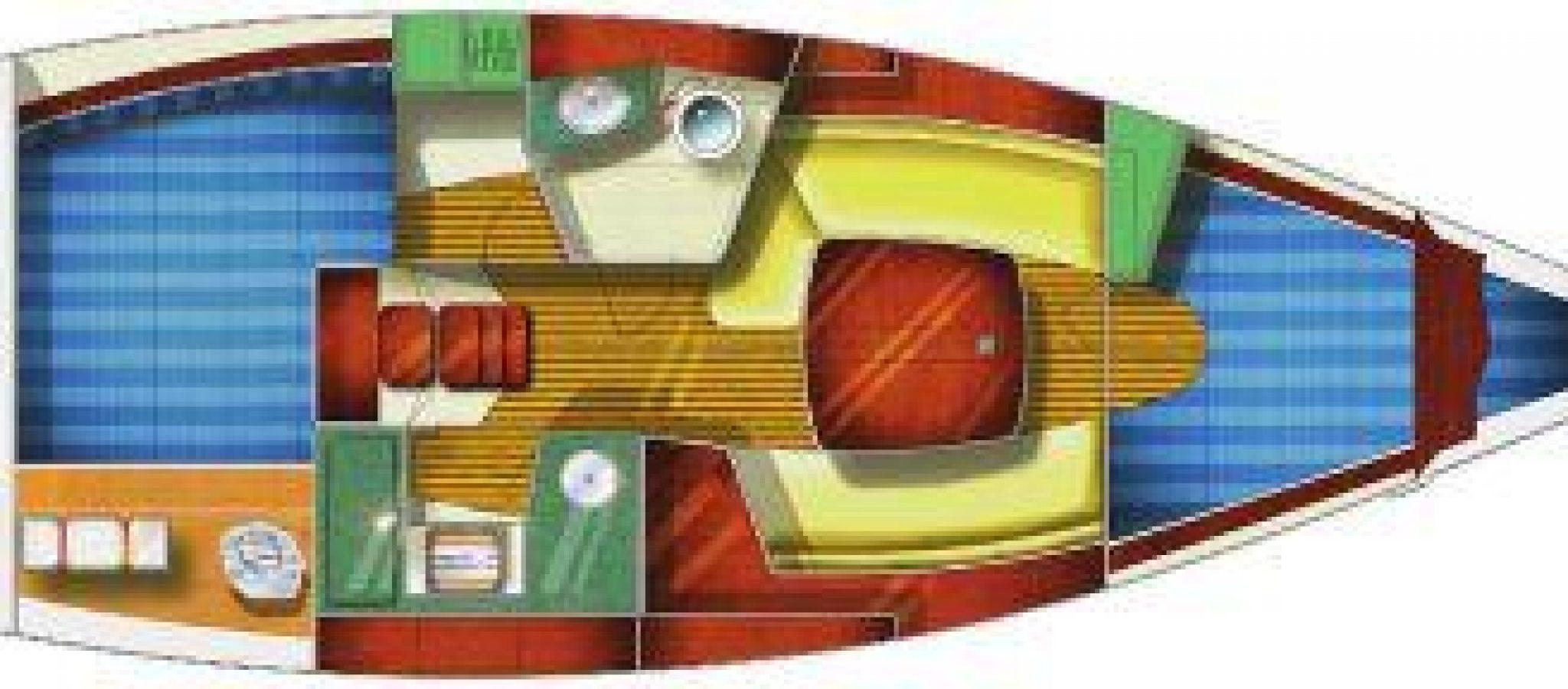 Sun Odyssey 32 plan 2 cabines