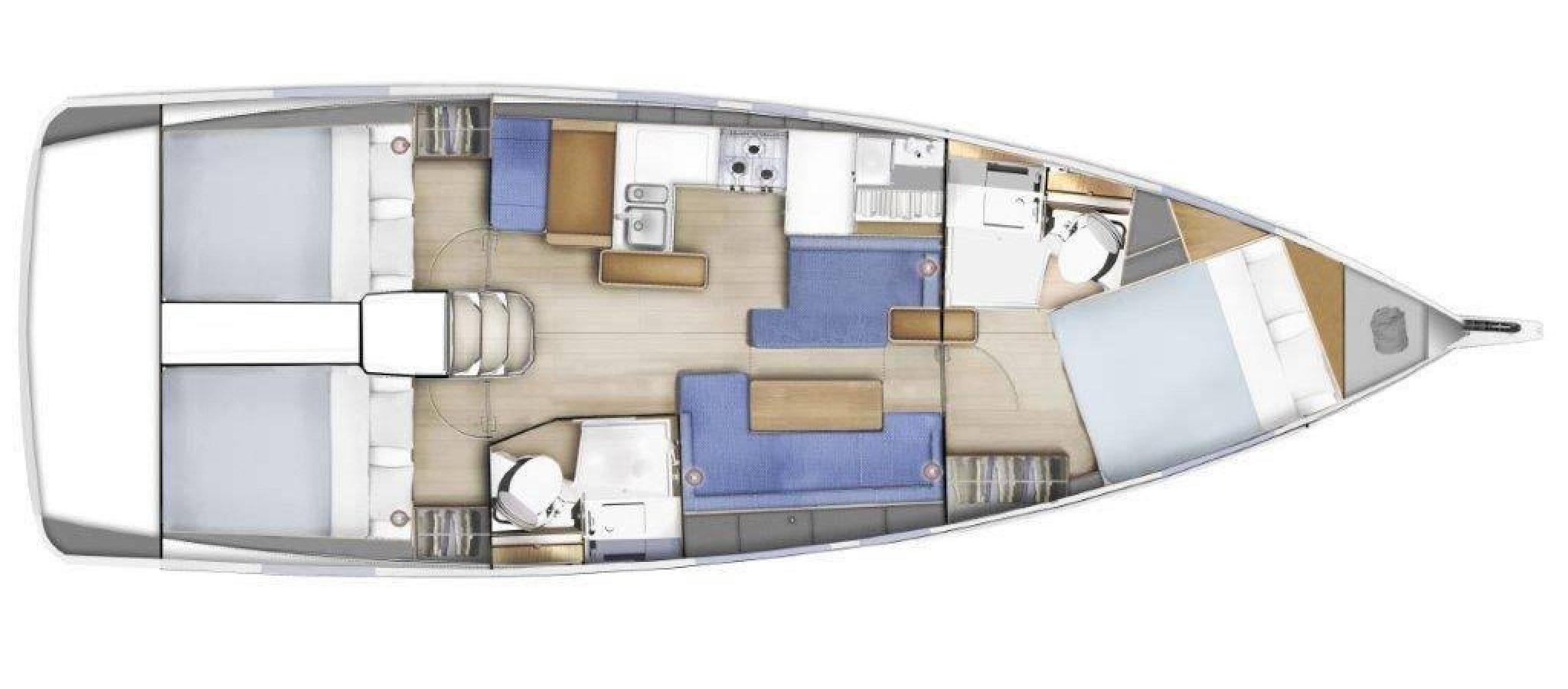 Sun Odyssey 410 3 cabines